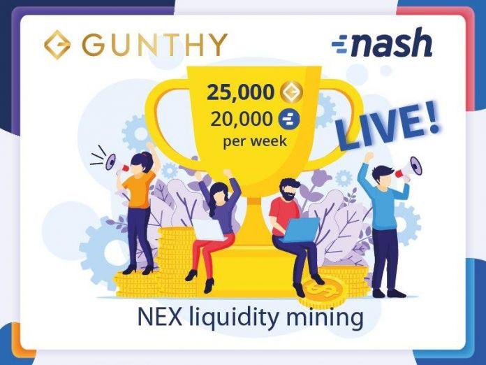 Gunthy Token Added at Nash Exchange Tournament 8
