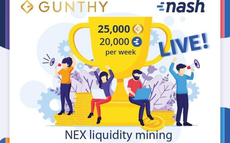 Gunthy Token Added at Nash Exchange Tournament 11