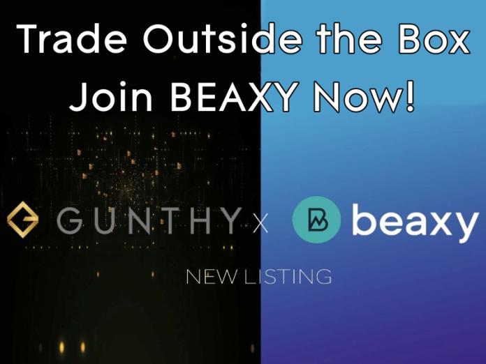 gunthy token listed on beaxy promo