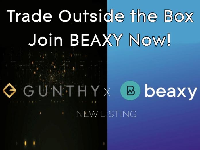 gunthy token listed on beaxy promo