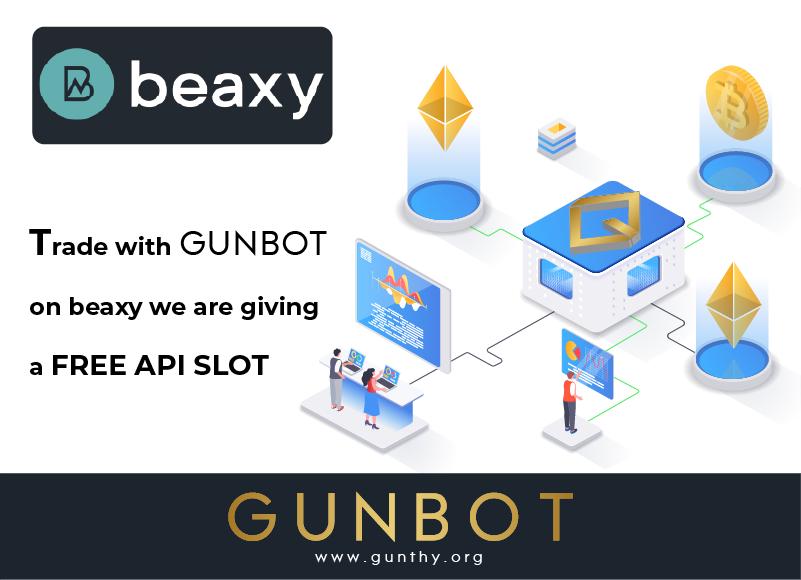 gunbot integrated beaxy promo