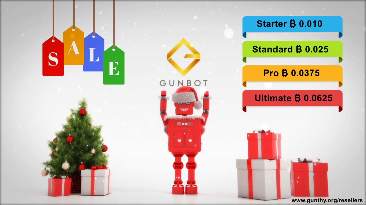 Gunbot Christmas price promo